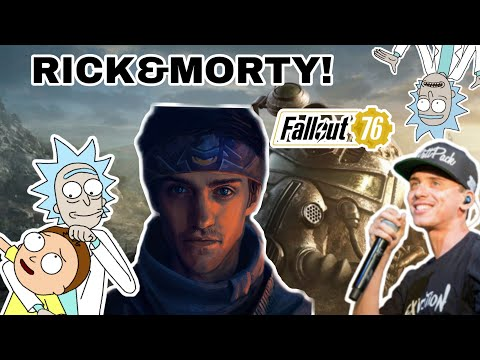 Ninja Plays Fallout 76 With Rick And Morty And Logic