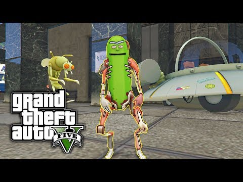 GTA 5 MOD - Pickle Rick! (Rick and Morty)