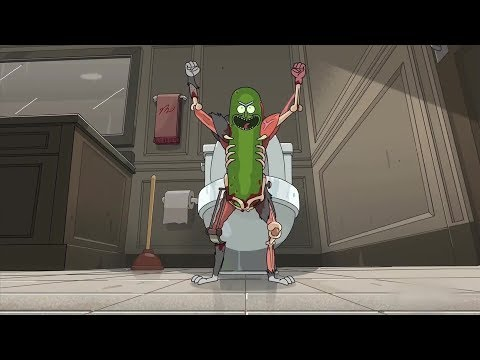 Rick and Morty- S3 Ep 3: Pickle Rick Rat Suit Tranformation