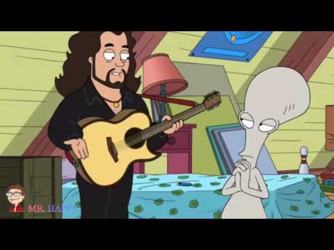 American Dad - Roger plays the guitar