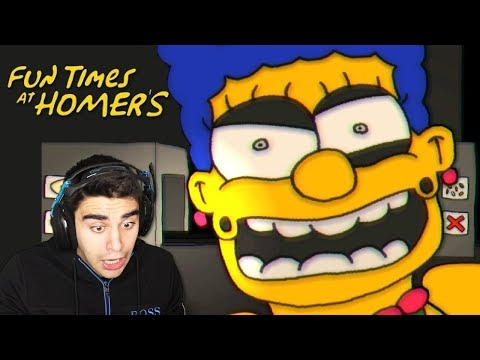 THE SIMPSONS HAVE TURNED INTO ANIMATRONICS!!! - Fun Times at Homer's (Night 1 Completed!)