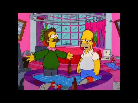 Homer And Ned Flanders Get Married While Drunk - The Simpsons