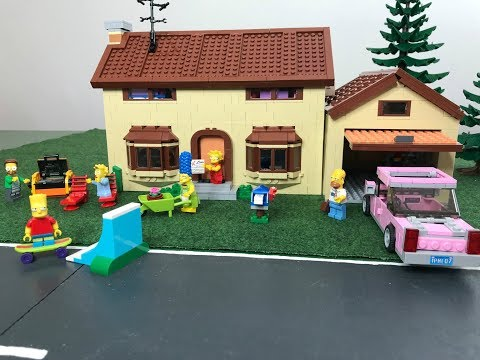 LEGO The Simpsons House 71006 set review / unboxing + Simpsons Mini Figures Serie 2 / Simpsons Haus