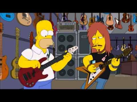 Homer Simpson play bass