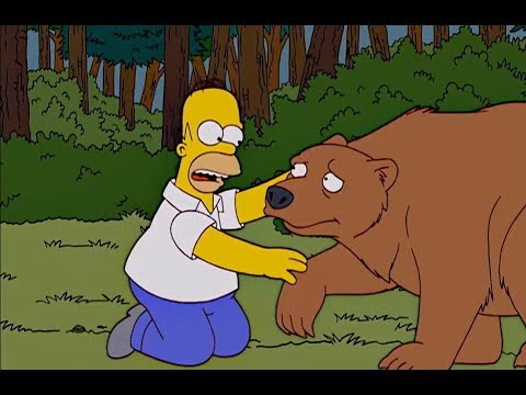 The Simpsons - Homer becomes friends with the bear