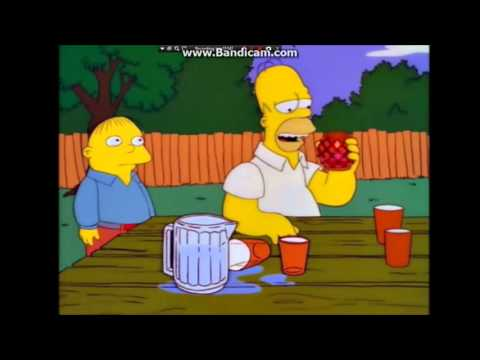 The Simpsons-Homer eats chilli