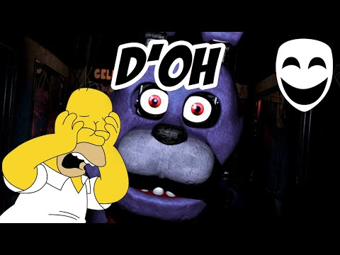 HOMER SIMPSON joga Five Nights at Freddy's