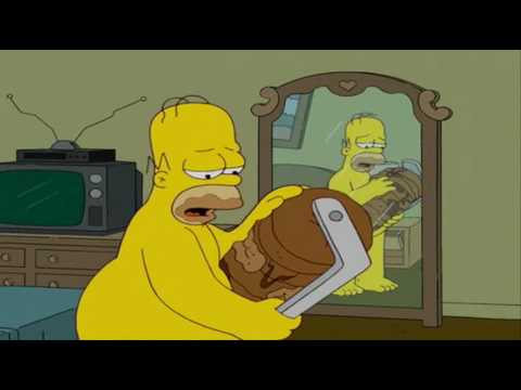 Homer Simpson cheated scene