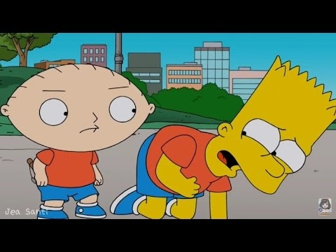 Family Guy - Stewie meets Bart Simpson