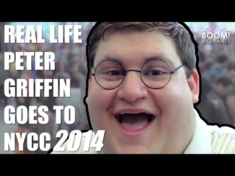 Real Life Peter Griffin Goes To NYCC 2014 | BOOM! Big Pants