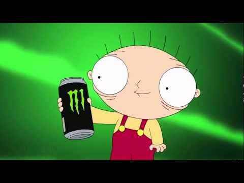Family Guy - Stewie Drinks Monster Energy