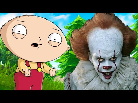 Trolling Fortnite Players as FAMILY GUY Characters & PENNYWISE