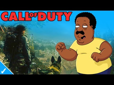 CLEVELAND BROWN PLAYS CALL OF DUTY