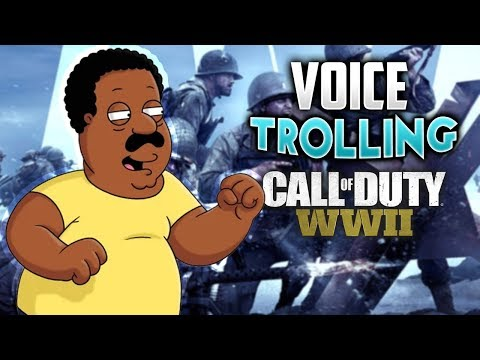 WW2 VOICE TROLLING - CLEVELAND BROWN PLAYS CALL OF DUTY! (WW2 Family Guy Troll)