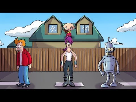 FUTURAMA VS FAMILY GUY DEATHRUN!