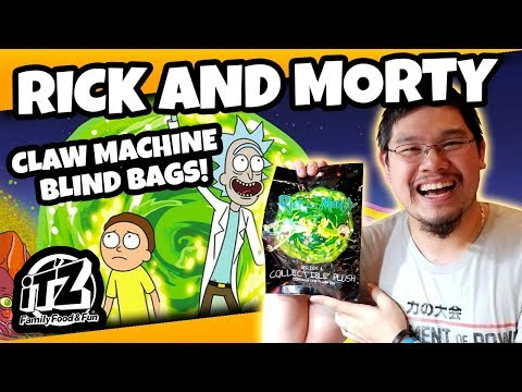 $5 Claw Machine Challenge! Rick and Morty Blind Bags! TeamCC