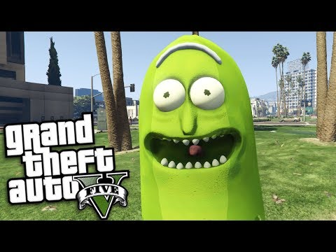 GTA 5 Mods - PICKLE RICK MOD FROM RICK AND MORTY (GTA 5 PC Mods Gameplay)