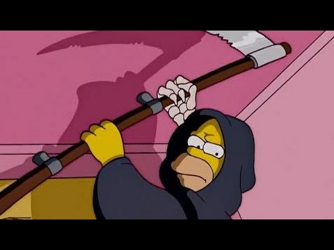 The Simpsons - Homer becomes Grim Reaper HD