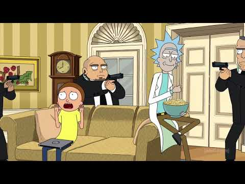 Rick and The President have a talk (Rick and Morty Season 3)