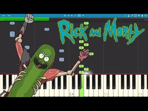 Pickle Rick ! Piano Cover / Tutorial - Rick and Morty