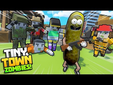 PICKLE RICK BATTLES ZOMBIE APOCALYPSE!! || (Tiny Town VR Zombies DLC) Tiny Town VR Gameplay Part 26