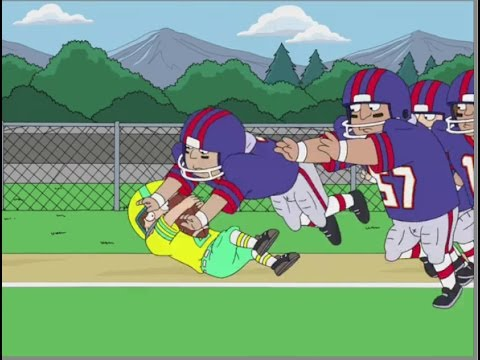 American Dad! Steve's Nerdy Friends Play Football against Stan's Team